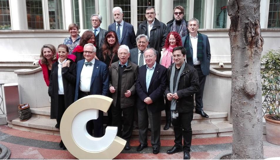Fotografia de família dels Premis Nacionals de Cultura 2017.