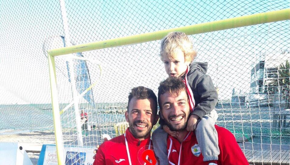 A l'esquerra, Adrián Frutos i, a la dreta, Llorenç Gómez.