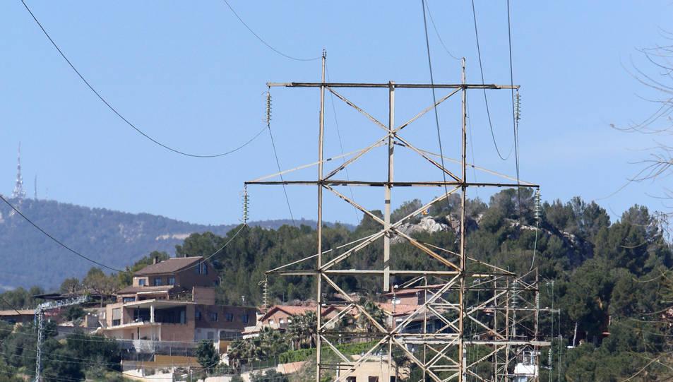 Les torres d'alta tensió d'El Pinar, en una imatge d'arxiu.