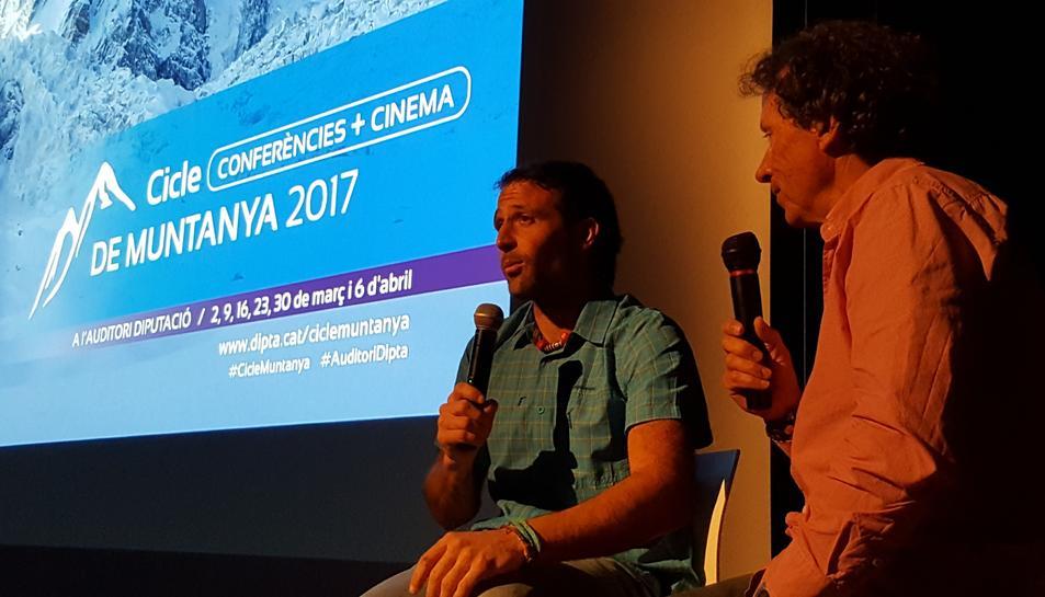 L'alpinista Òscar Cadiach s'ha encarregat de presentar Alex Txikon.