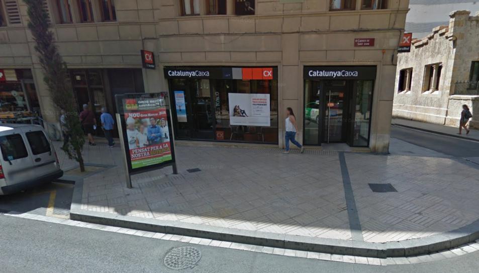 Ha tingut lloc a l'oficina del carrer Sant Joan, a la imatge encara Catalunya Caixa, però que actualment forma part del grup BBVA.