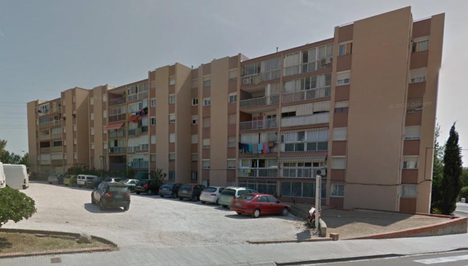 Imatge d'un dels blocs de pisos del barri de Sant Salvador.