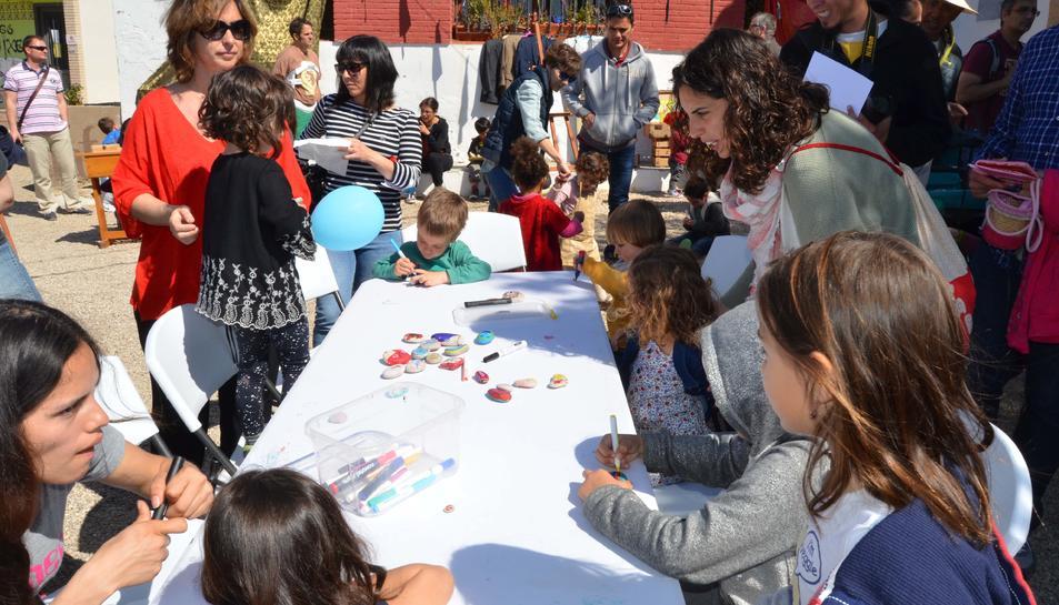 Durant la presentació es van fer diversos tallers creatius.