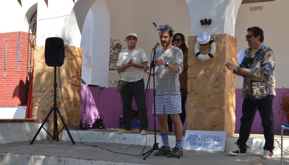 Joan Rioné durant un moment de la presentació.