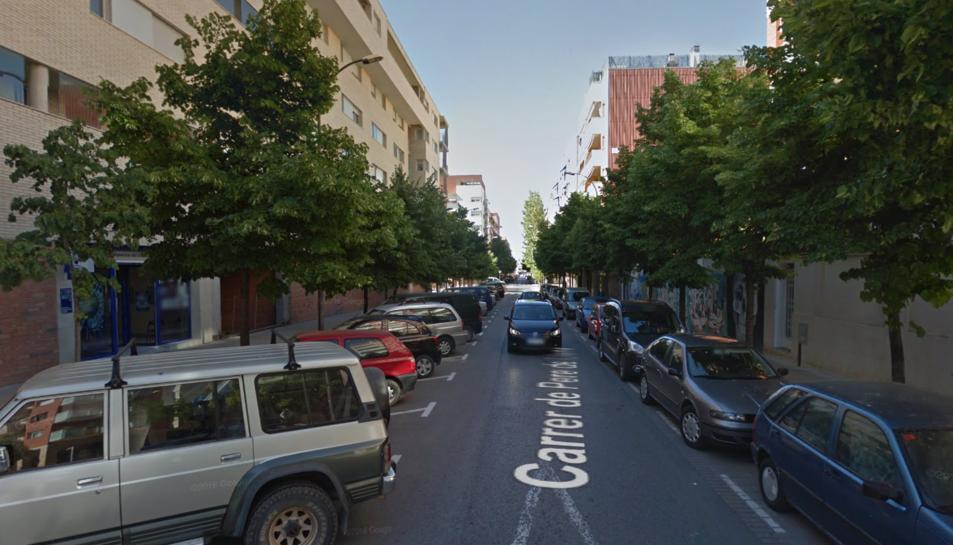 Imatge del carrer Pere de Lluna de Reus.