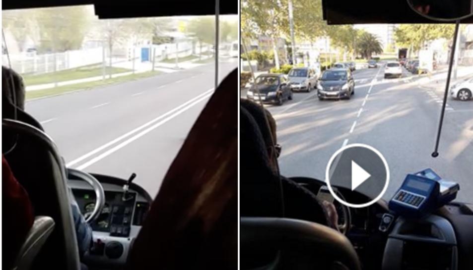 La usuària ha fet públic els dos vídeos dels dos trajectes amb els conductors parlant pel mòbil.