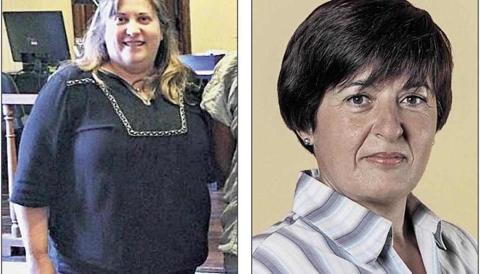 A l'esquerra, Fina Bartolí, i a la dreta, Dolors Palma.