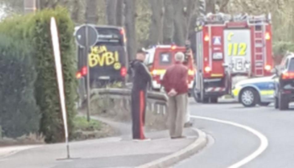 Les explosions han tingut lloc 10 quilòmetres abans de l'estadi de l'equip alemany.