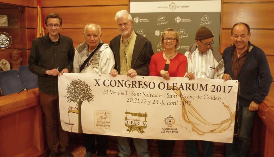 Imatge de l'acte de presentació del Xè congrés Olearum.