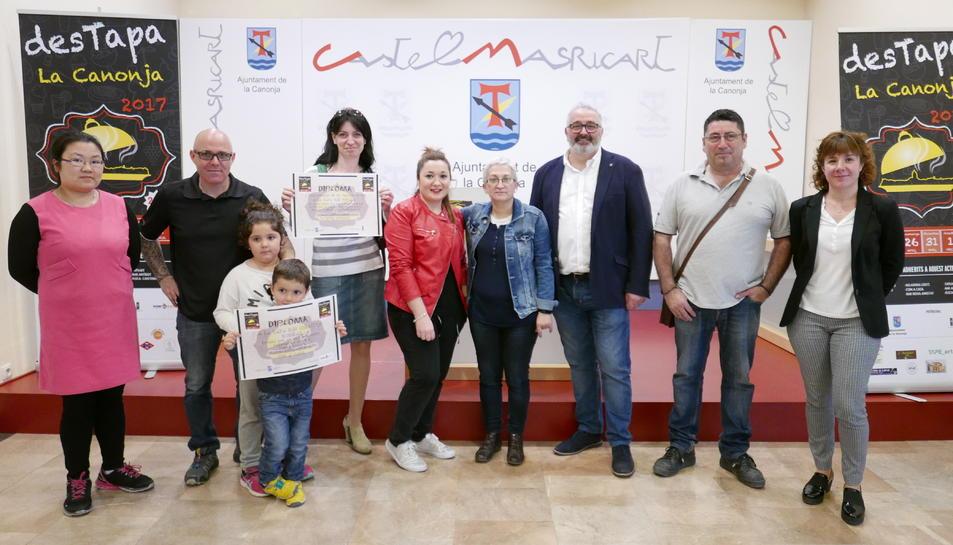 Imatge de l'acte de lliurament dels premis Des-Tapa.