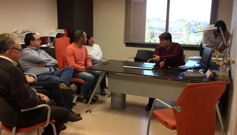 Sessió de formació a l'Ajuntament del Masroig on s'ha iniciat la implantació de la plataforma digital Actio desenvolupada per la Diputació de Tarragona. Imatge del 12 d'abril de 2017 (horitzontal)