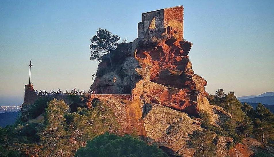 fotografia del grup d'Instagramers de Tarragona participants a l'ermita de la Mare de Déu de la Roca.