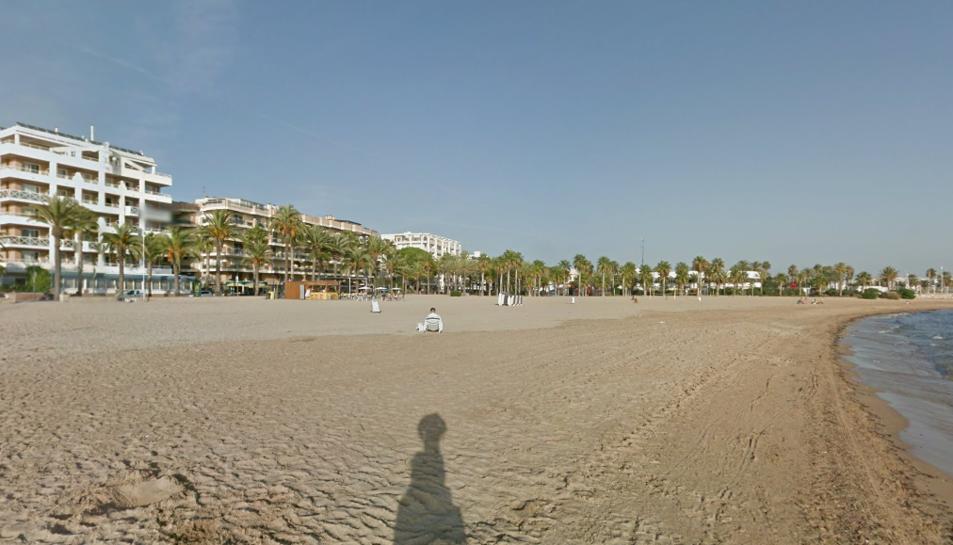 Imatge de la platja de Ponent de Salou