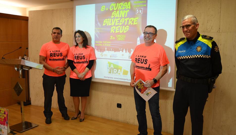 Juan Bonillo en l'acte de presentació d'una anterior edició de la cursa de Sant Silvestre.