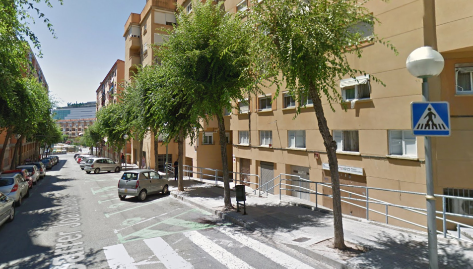 El foc s'ha produït al carrer Joana Jugan.