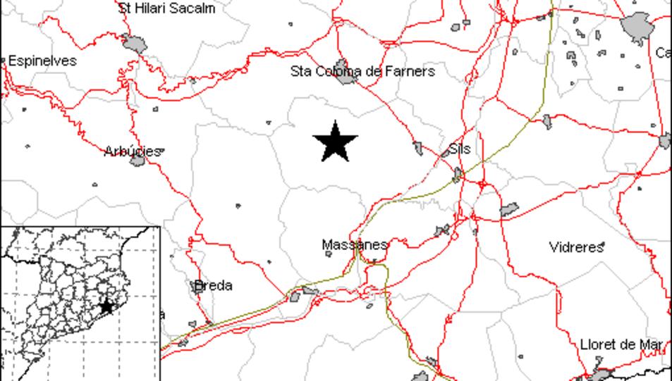 L'epicentre s'ha situat a la comarca de La Selva.