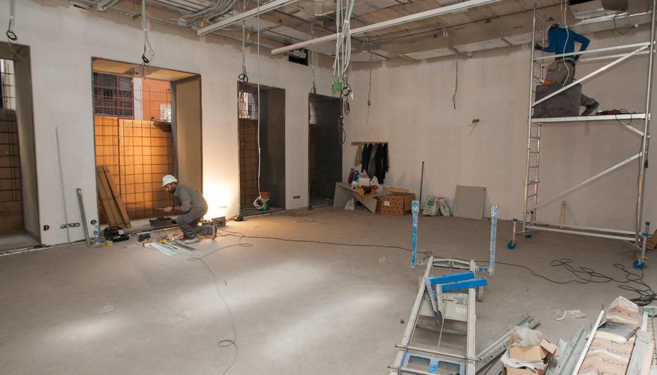 Una imatge d'arxiu de la reforma de les noves instal·lacions.