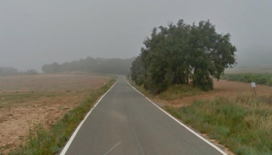 La carretera on es va produir l'accident.