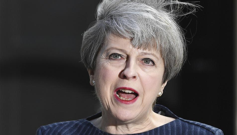 La primera ministra britànica, la conservadora Theresa May, anuncia la seva decisió de convocar eleccions generals anticipades.
