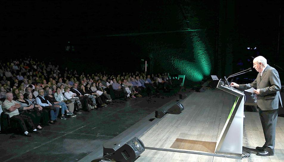 El director de la Fundació Maragall, Jordi Camí, durant la presentació de l'Estudi Alfa, la major investigació sobre alzheimer que es realitza al món.
