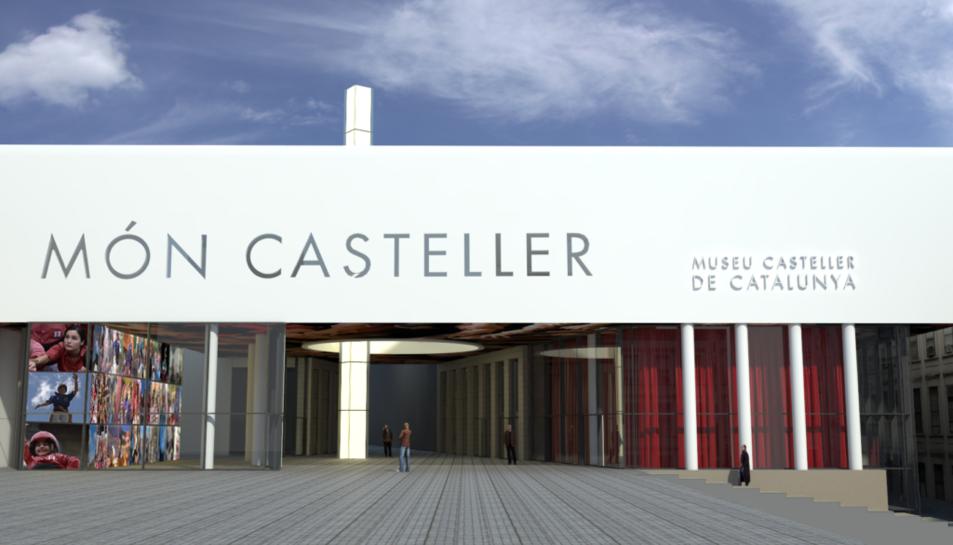 Façana de la Plaça del Món Casteller de Valls.