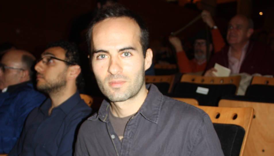 Daniel Morales, quan va recollir el premi 'Vuela la Cometa'.