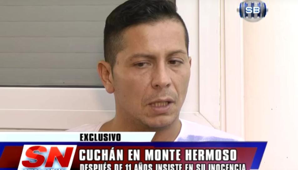 PabloCuchán en una entrevista realitzada per la televisió argentina després de ser posat en llibertat.