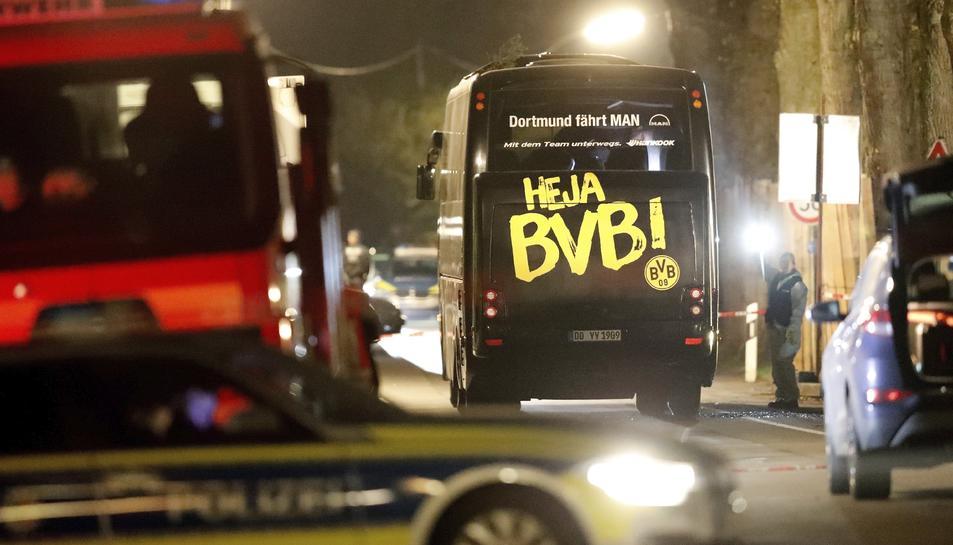 L'atemptat contra l'autobús del Borussia Dormund va tenir lloc l'1 d'abril i va ferir al jugador de Sant Jaume dels Domenys Marc Bartra.