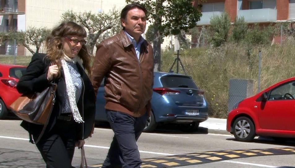 L'exdirector general d'Infraestructures, Josep Antoni Rosell, després de comparèixer als jutjats del Vendrell.
