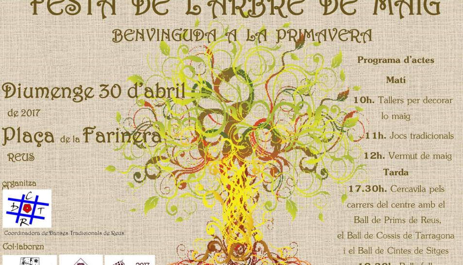 Imatge del cartell de la Festa de l'Arbre de Maig.