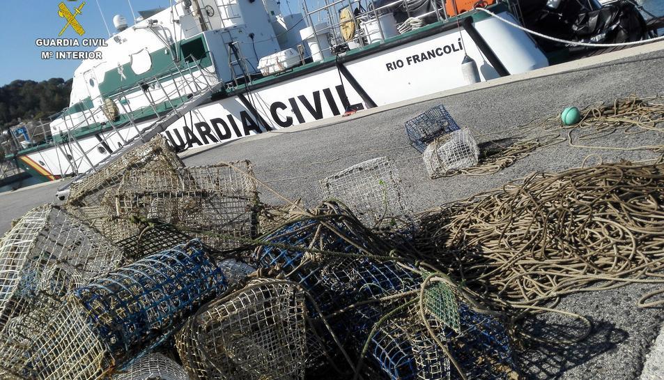Les nanses van ser intervenides a la costa de Cambrils.