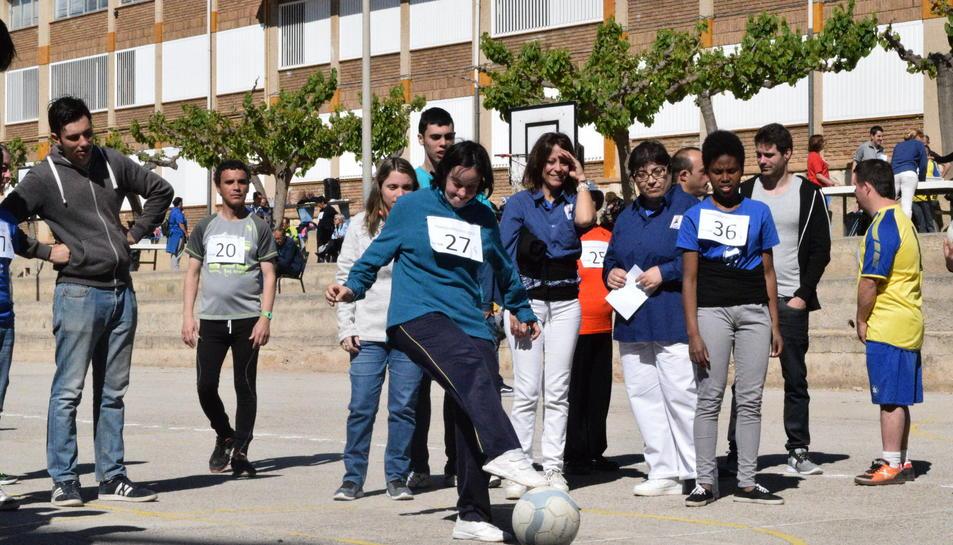 Paralimpíada organitzada per alumnes de La Salle per a persones amb discapacitat.