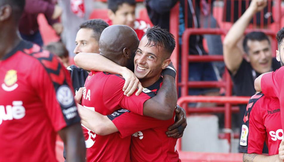 Tejera celebra el gol anotat el passat dissabte.