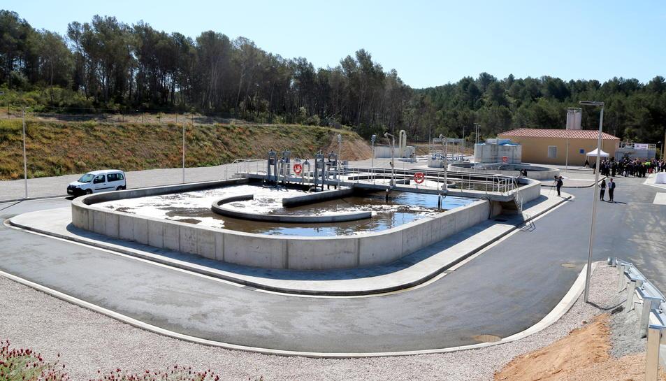 Pla general de la nova depuradora del Catllar, al Tarragonès. Imatge del 24 d'abril del 2017