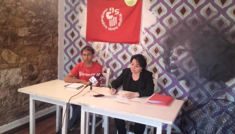 Xavi Milian i Montse Aumatell, representants de la Coordinadora Obrera Siondical.