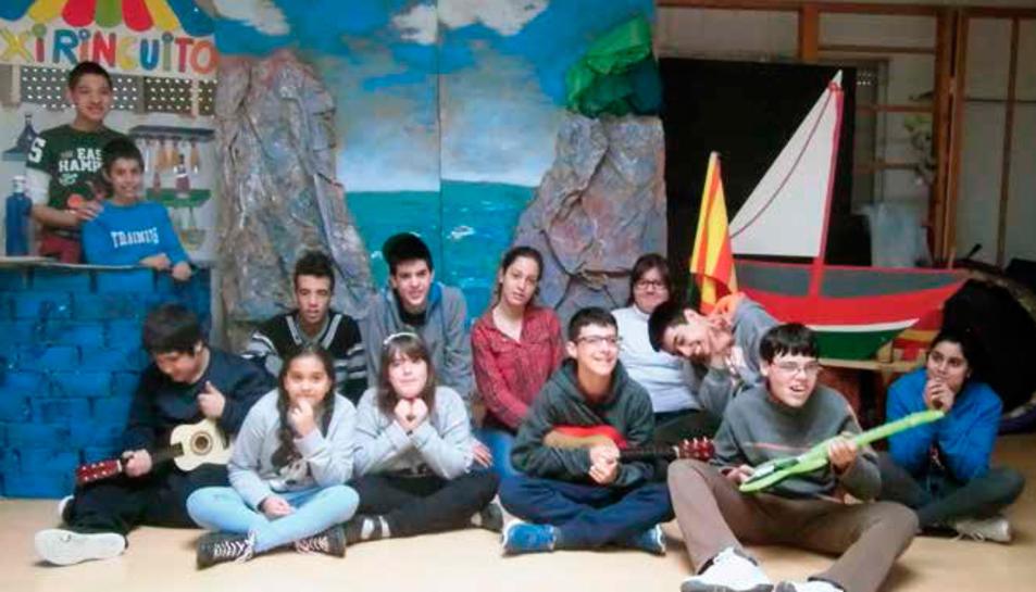 Els integrants del grup 7deTeatre.