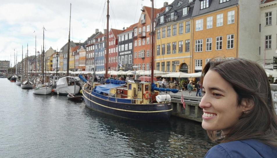 Leyre Bertran, a la imatge, mostra una part del paisatge que ofereix Copenhague.