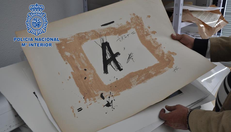 Algunes de les litografies intervingudes.