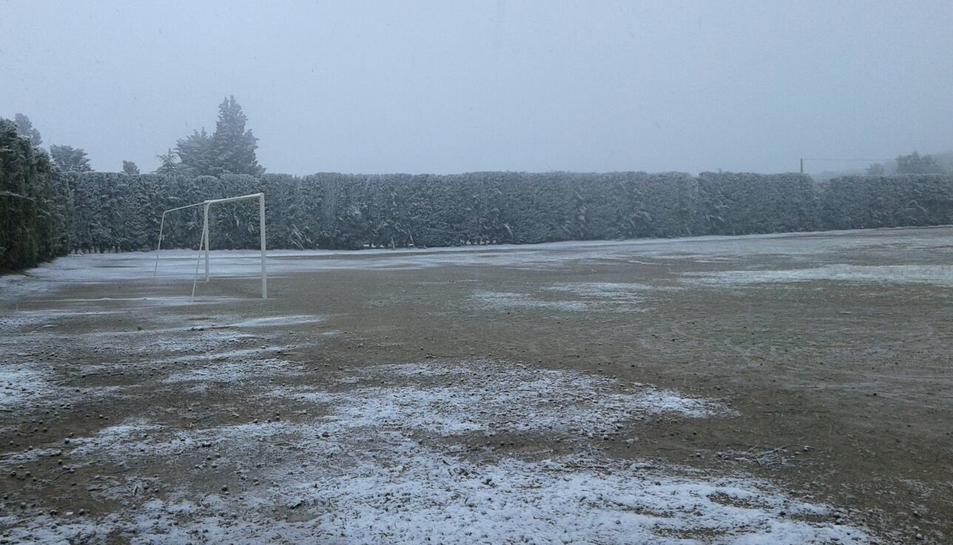 Imatge de Vilanova de Prades aquest matí del dijous 27 d'abril.