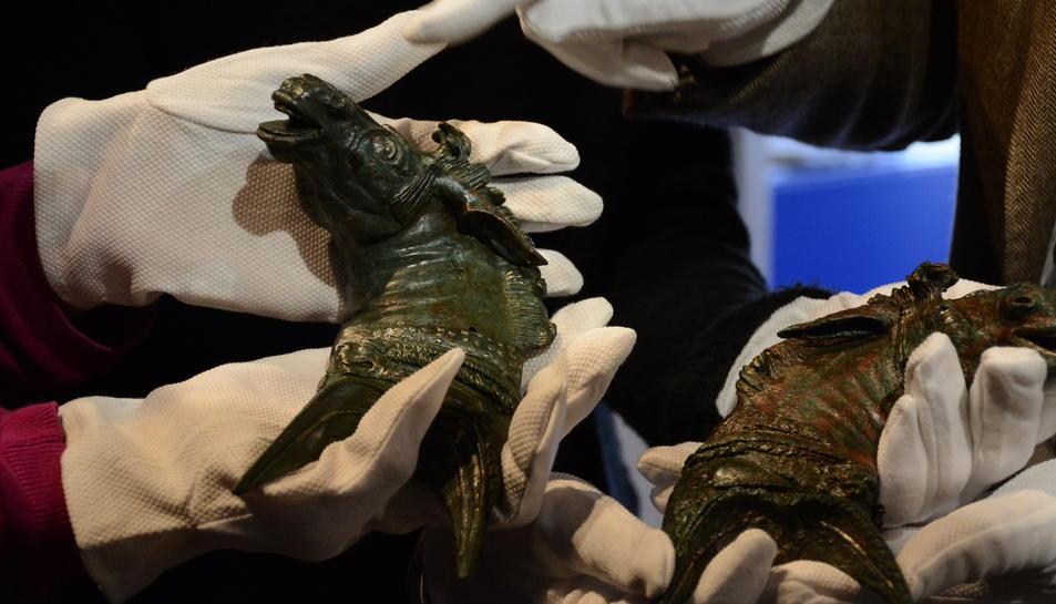 imatge de les peces d'època romana recuperades.