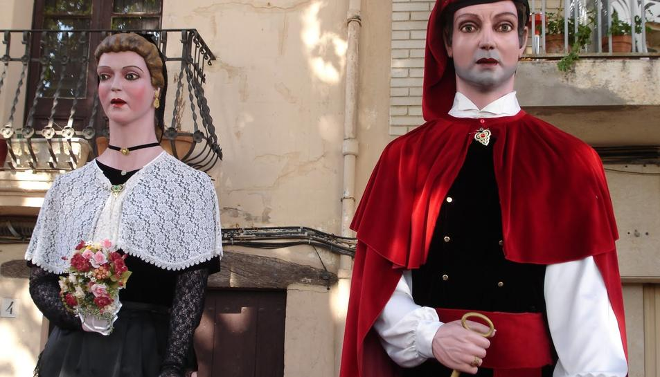 Imatge d'arxiu de la colla gegantera de Sant Pere i Sant Pau.