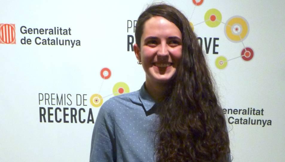 Núria Aparicio, de l'Institut Comte de Rius deTarragona, és una de les estudiants de la demarcació premiada.