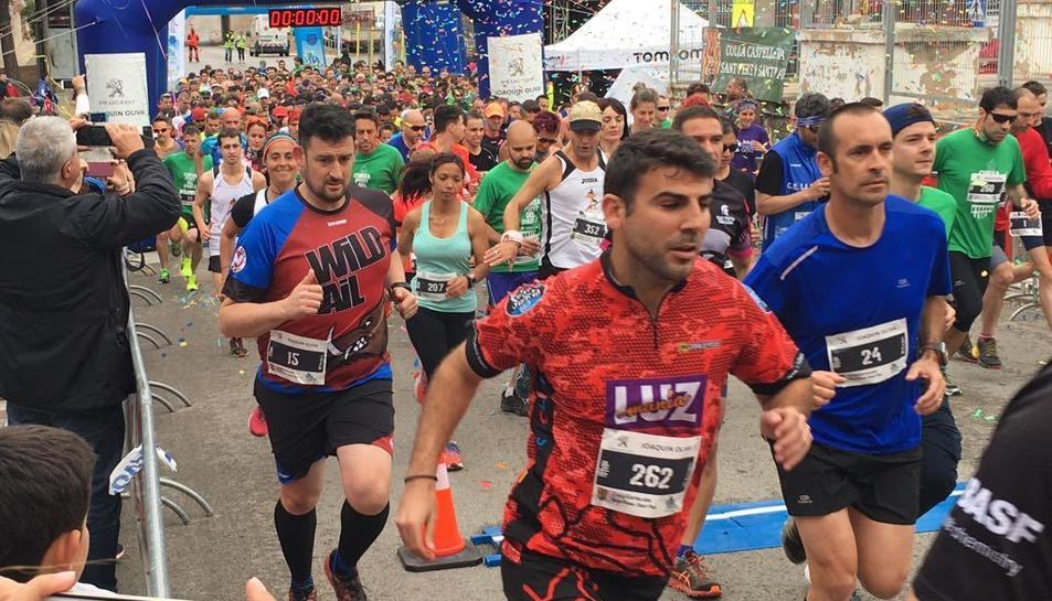 Sortida de la cursa del Pont del Diable, organitzada per la Colla Castellera Sant Pere i Sant Pau.