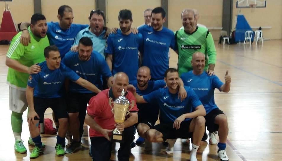 L'equip tarragoní, amb el títol de segon classificat.