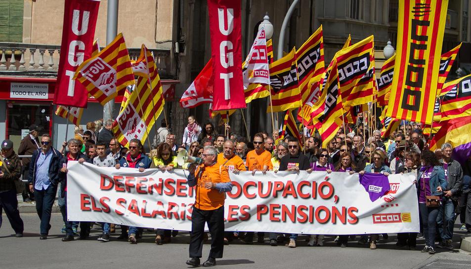 Manifestació de l'1 de maig a Tarragona