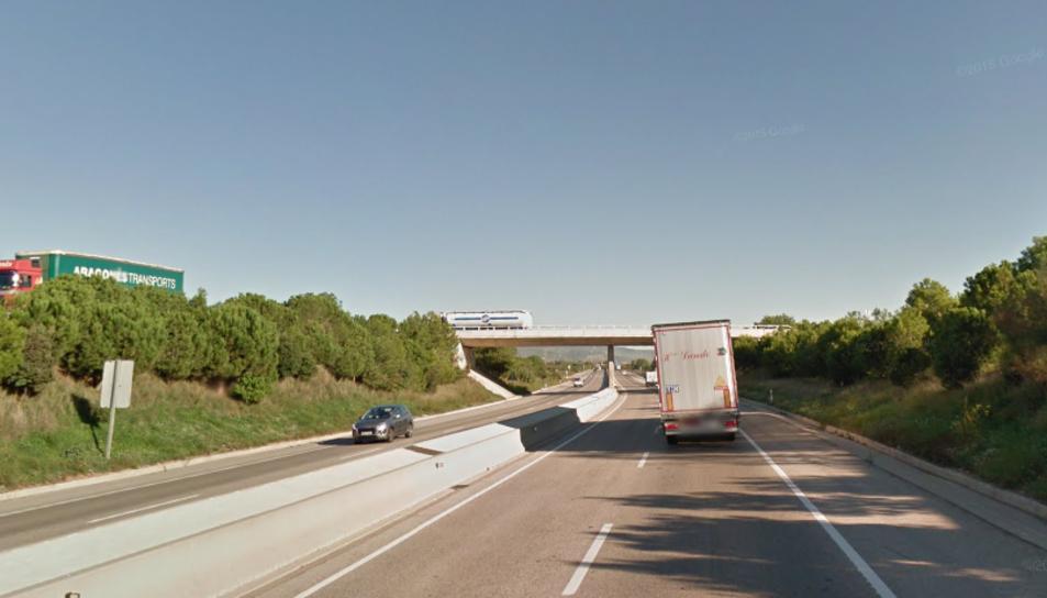 La sortida de via ha tingut lloc al quilòmetre 9 de la C-14.