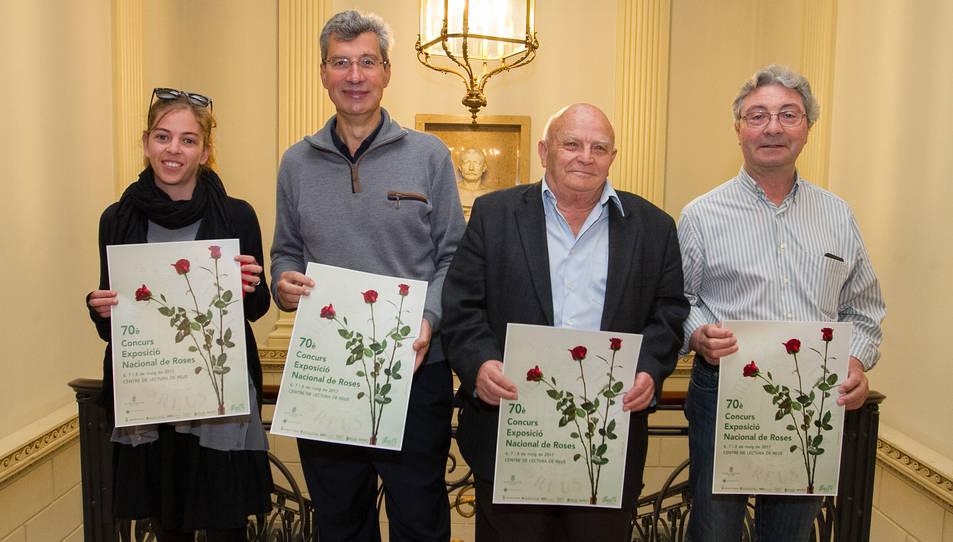 Presentació de la 70ena edició del Concurs Nacional de Roses, ahir al Centre de Lectura.