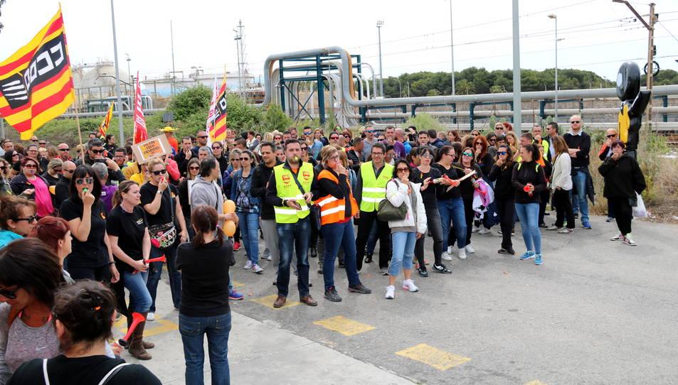 Imatge d'arxiu de la vaga de treballadors de Bic Graphic a Tarragona del 2 de maig.