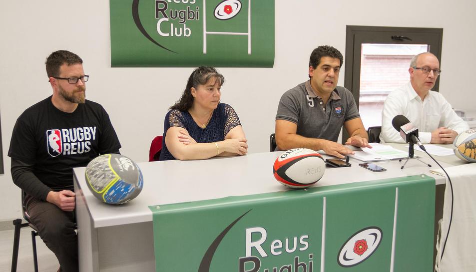 D'esquerra a dreta, Eduard Anguita, Pilar López, Daniel De la Cruz i Joan Carles Sanromà.
