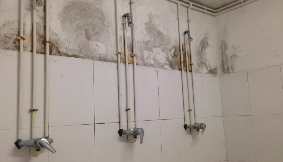 Les dutxes del camp de Bonavista.